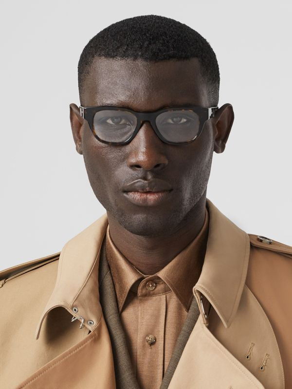 Square Optical Frames in Tortoiseshell - Men | Burberry United Kingdom - cell image 2