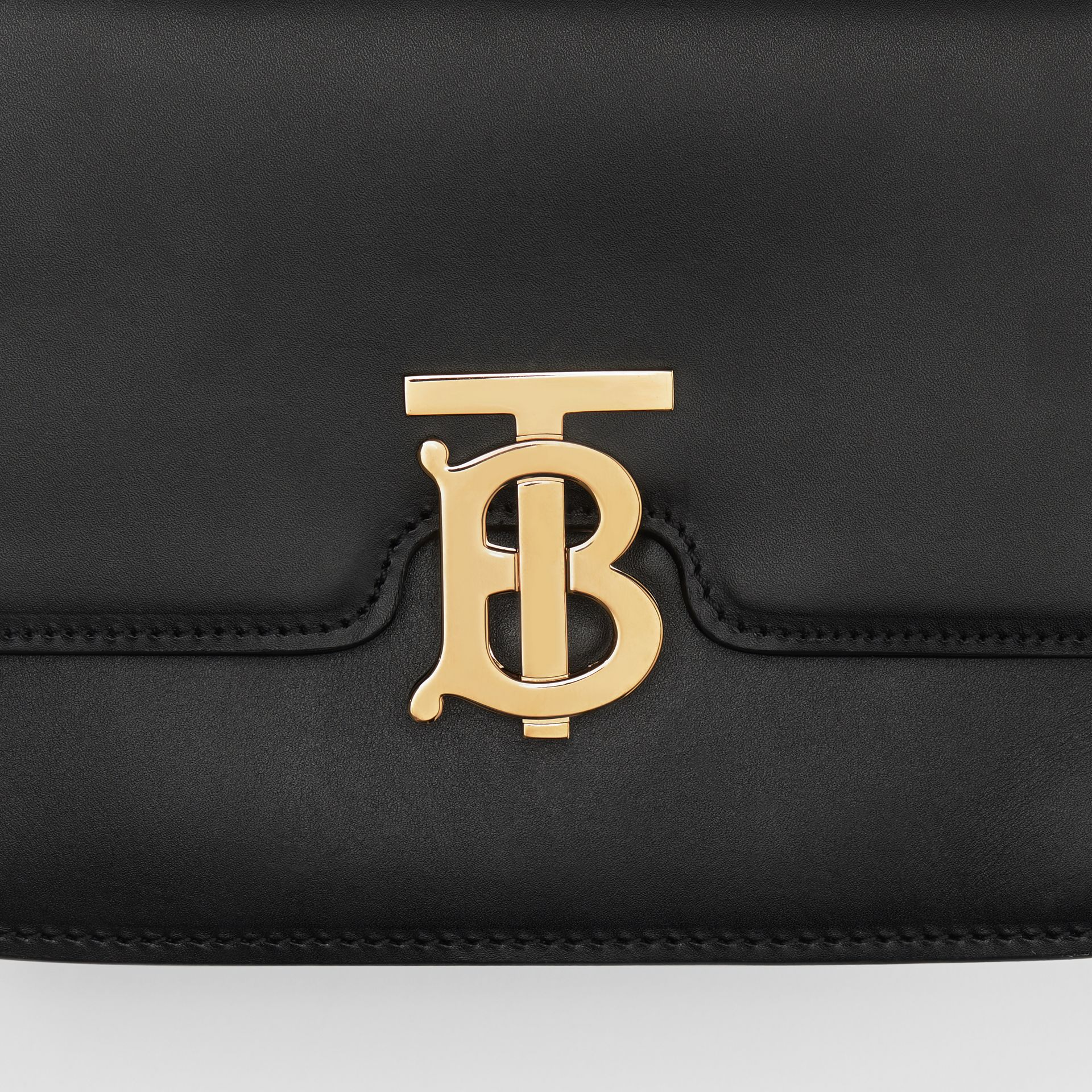 Small Leather TB Bag in Black - Women | Burberry - gallery image 6