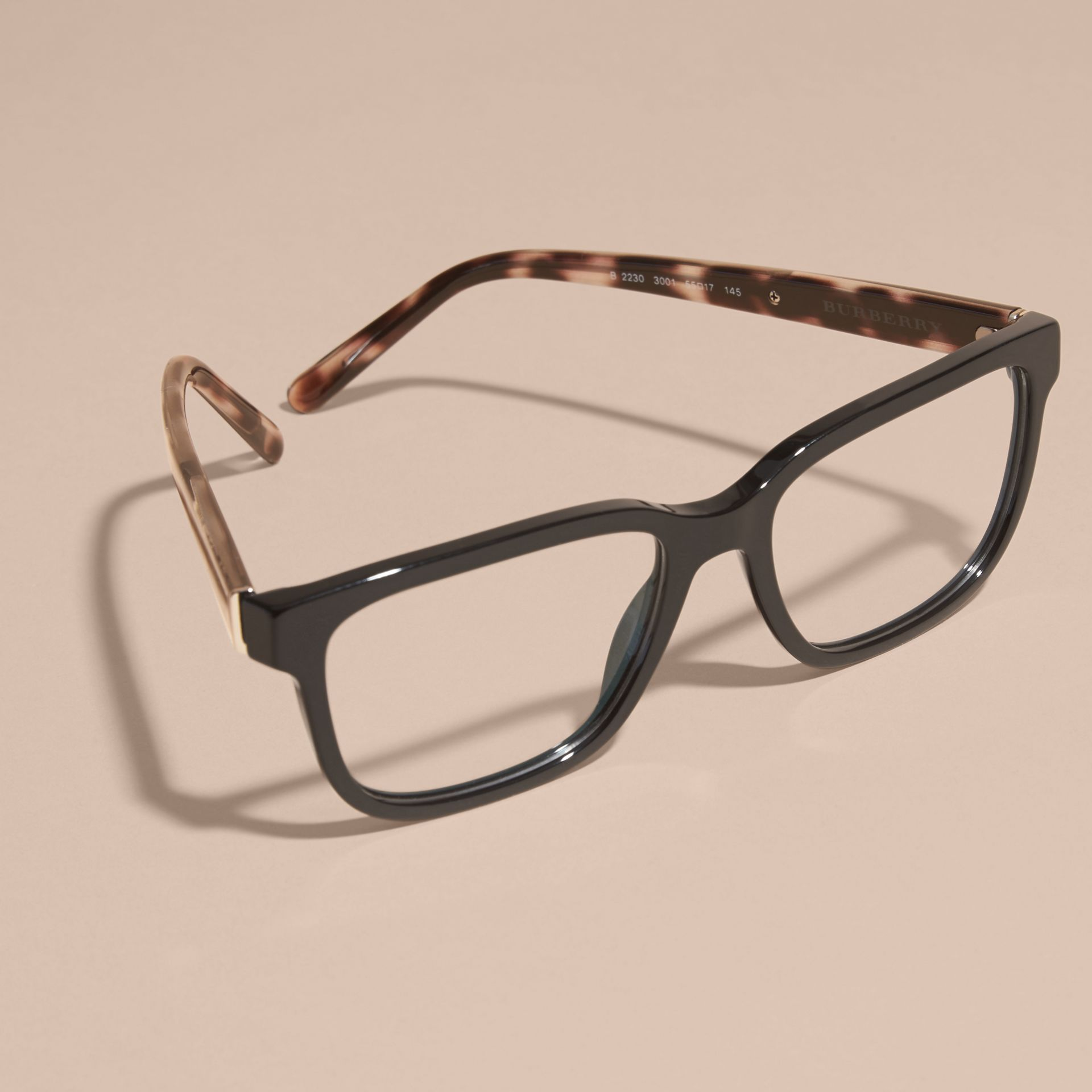 Check Detail Rectangular Optical Frames in Black - gallery image 5