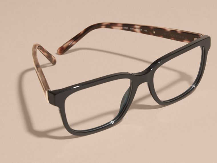 Check Detail Rectangular Optical Frames Black - cell image 4