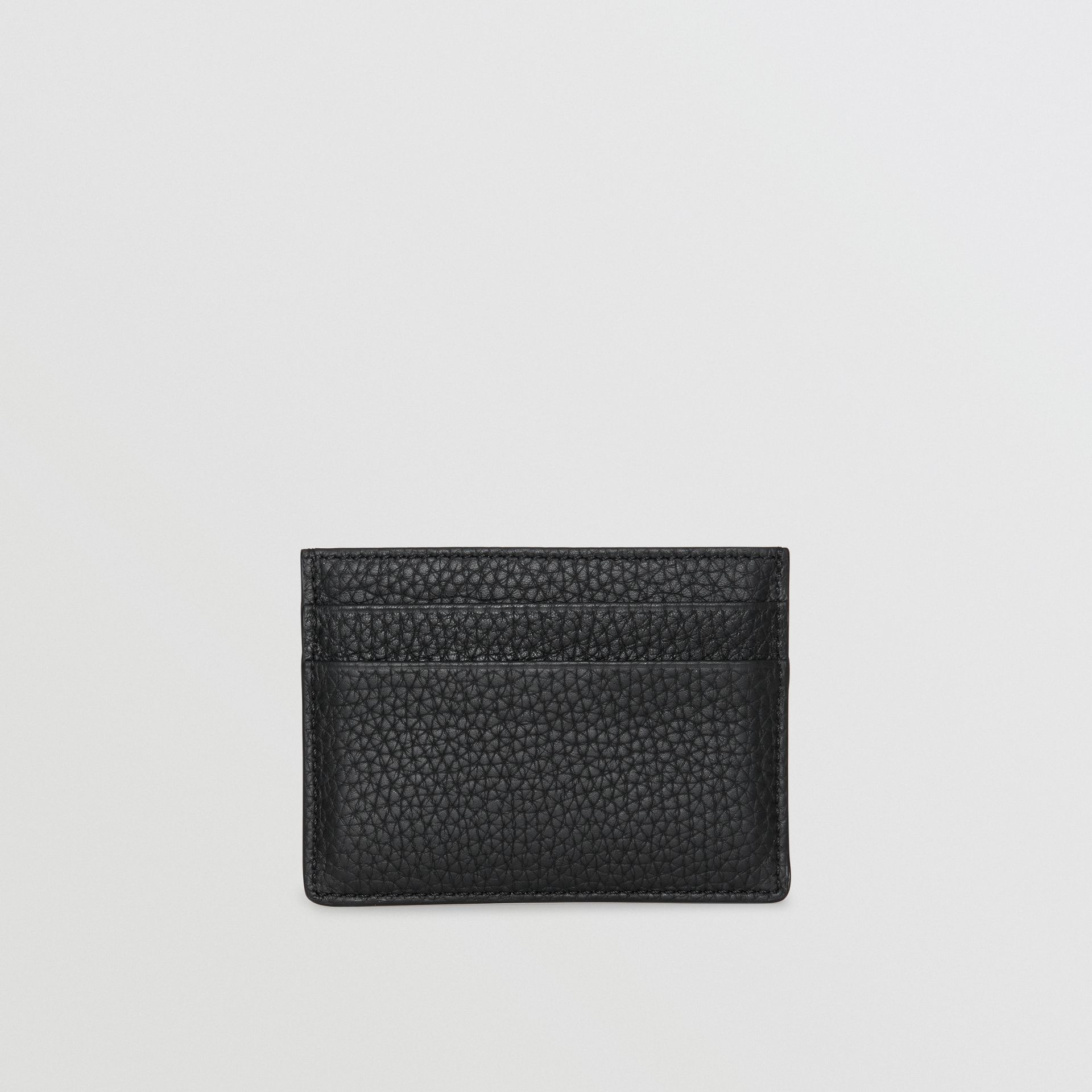 Textured Leather Card Case in Black | Burberry - gallery image 5