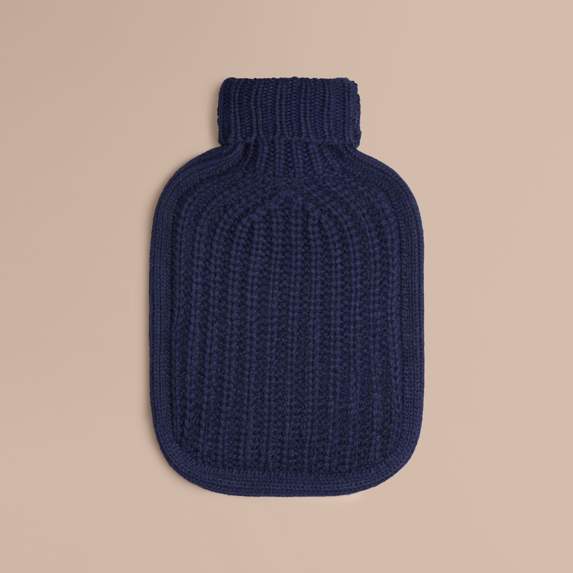 Navy Cashmere Hot Water Bottle Cover Navy - gallery image 1
