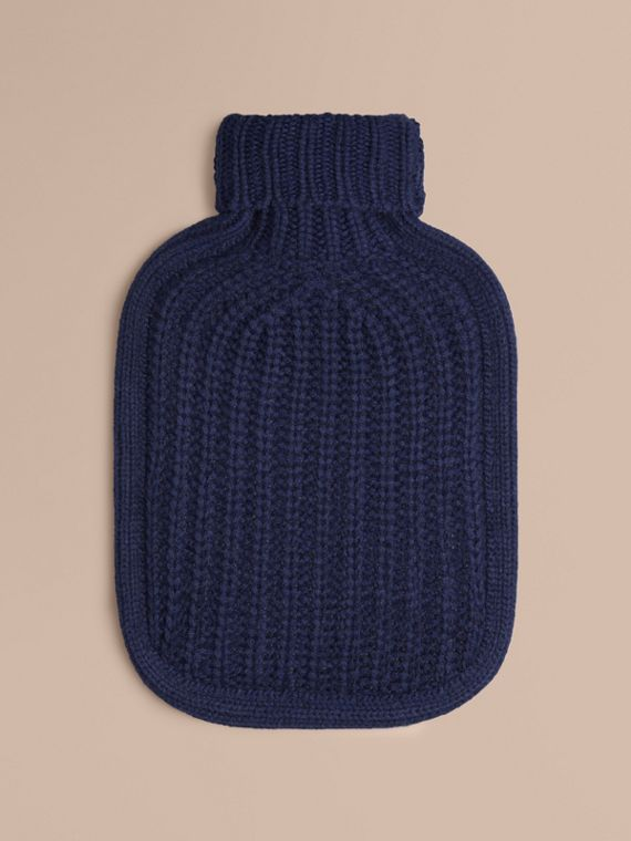 Cashmere Hot Water Bottle Cover Navy