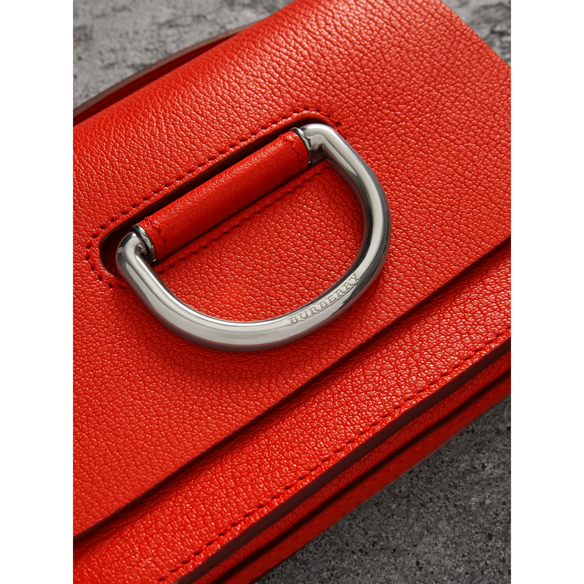 The Mini Leather D-ring Bag in Bright Red - Women | Burberry Australia - gallery image 1