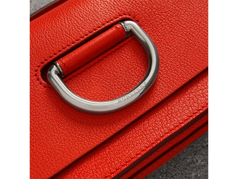 The Mini Leather D-Ring Bag in Bright Red - Women | Burberry - cell image 1