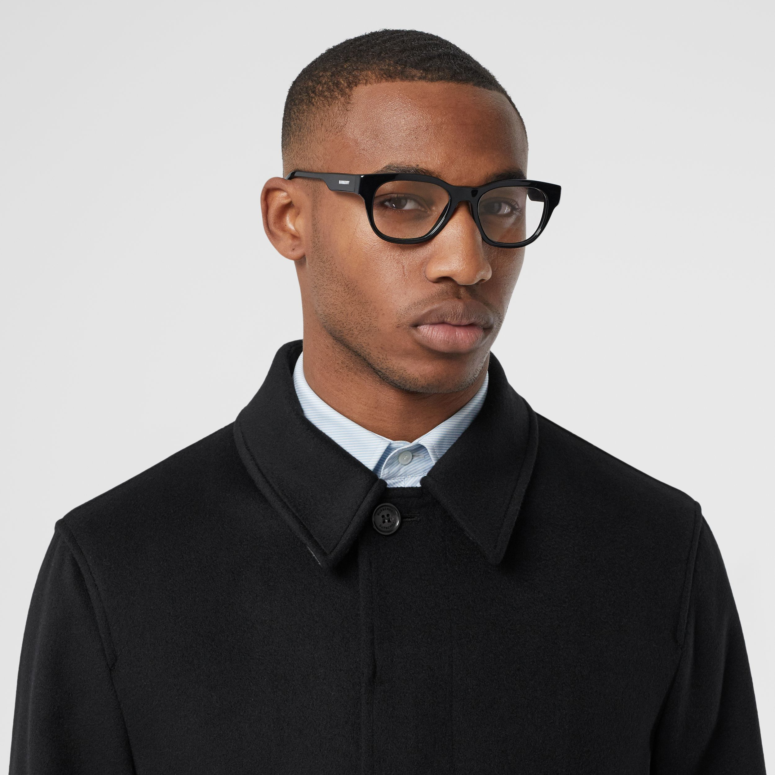 Cashmere Car Coat in Black - Men | Burberry - 2