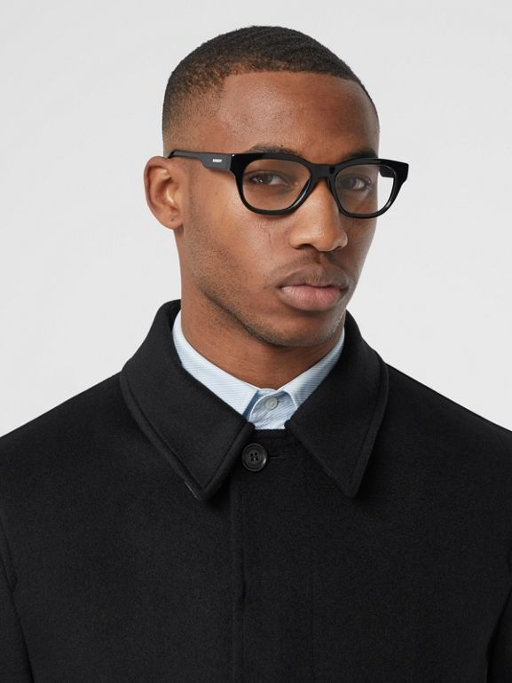 Cashmere Car Coat in Black - Men | Burberry - cell image 1