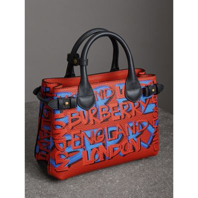 Small Banner Graffiti Tote - Only One Size / Red Burberry Cheapest Cheap Price Wholesale Price Cheap Online Free Shipping Best Seller Best Prices Online hzJw2GrZ