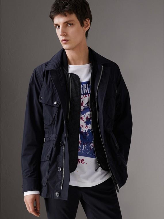 Полевая куртка из тафты с утепленной подкладкой (Темно-синий)