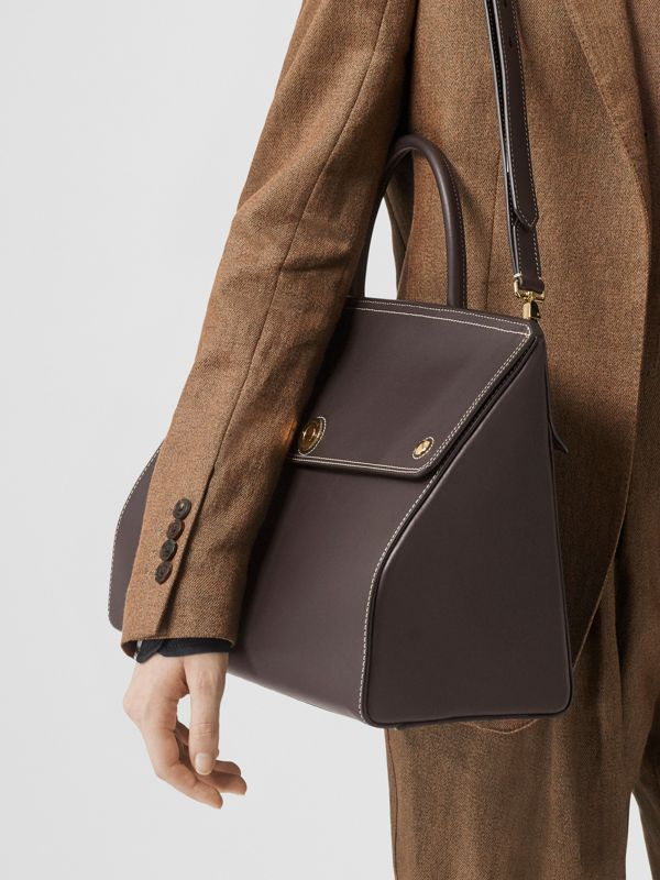 Medium Leather Elizabeth Bag in Coffee - Women | Burberry - cell image 2