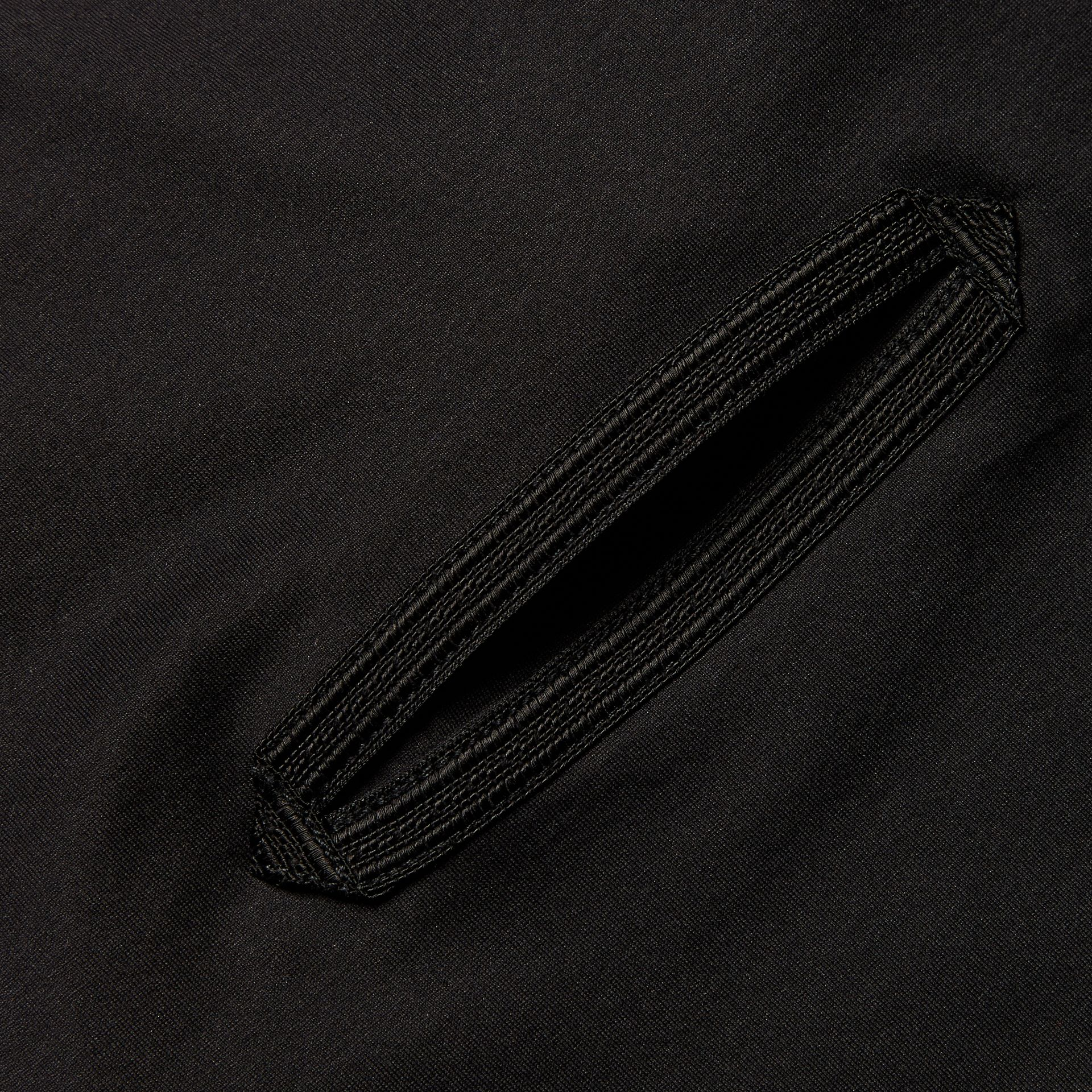 Regimental Tape Detail Cotton T-shirt Black - gallery image 2