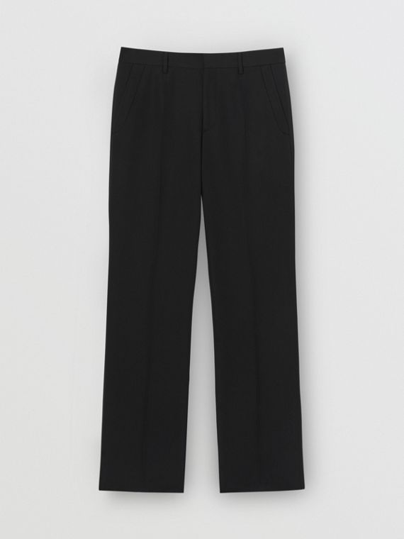 Elegante Wollhose in klassischer Passform (Schwarz)
