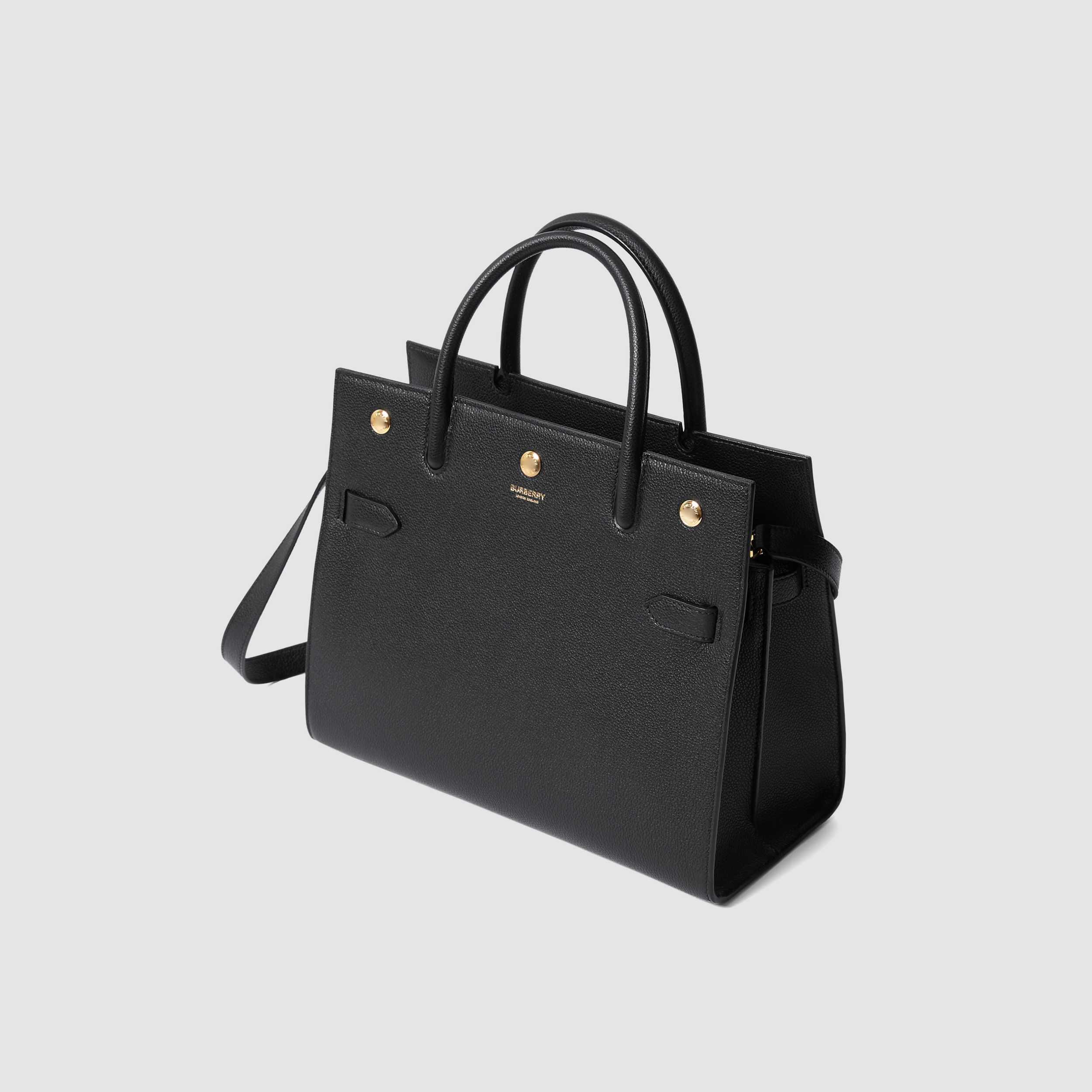 Small Leather Two-handle Title Bag in Black - Women | Burberry - 4