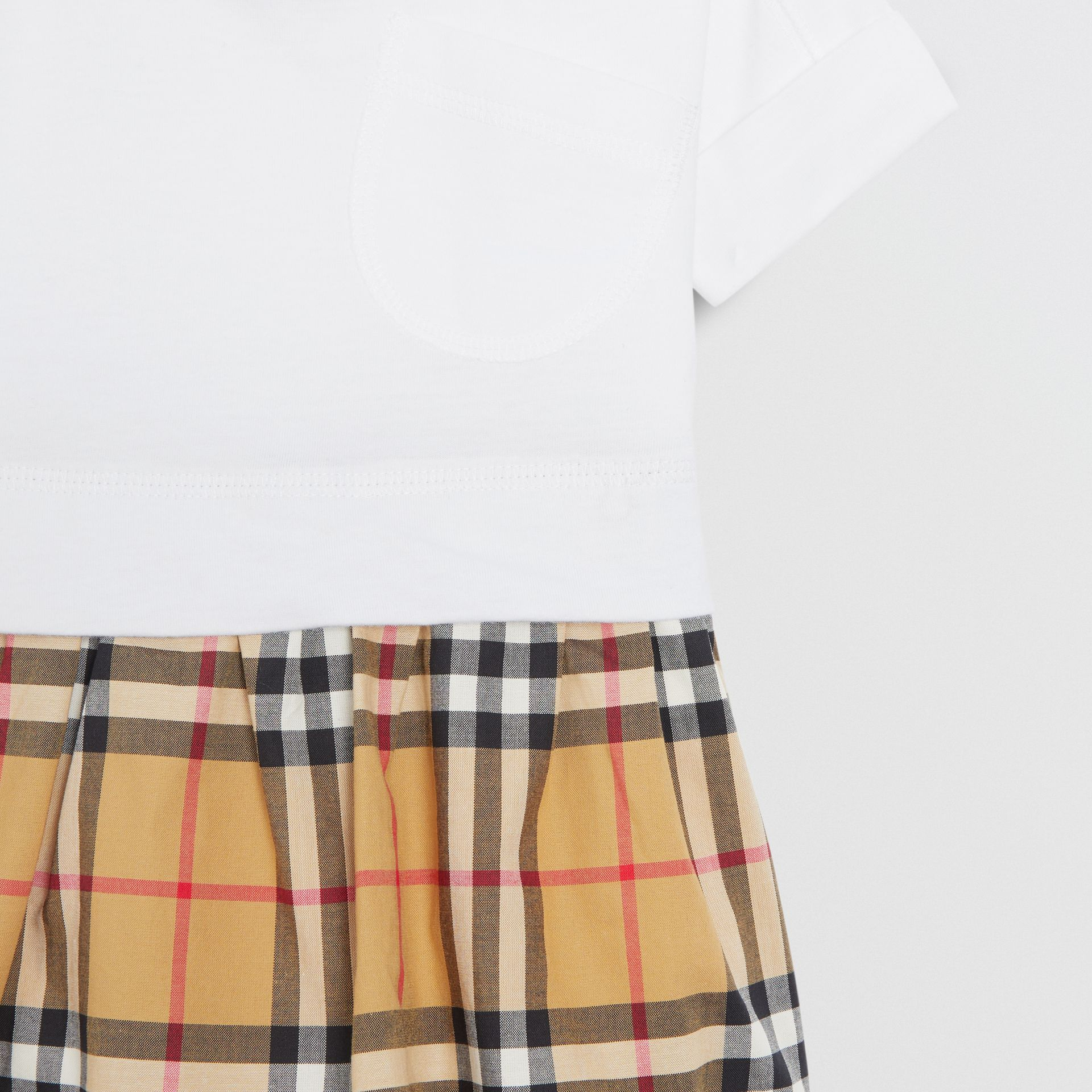 Vintage Check Cotton Dress with Bloomers in White - Children | Burberry United Kingdom - gallery image 4
