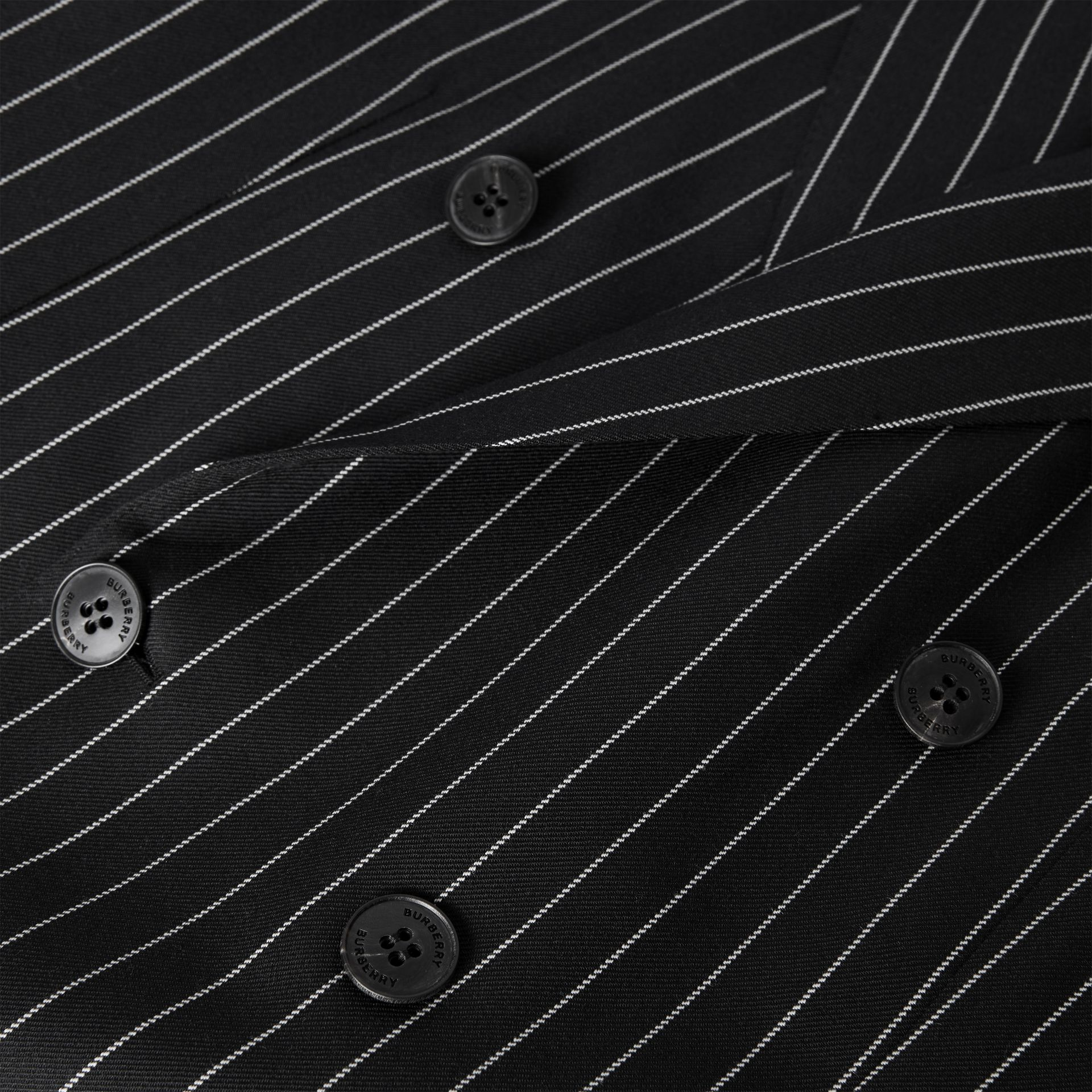 English Fit Pinstriped Wool Suit in Black - Men | Burberry United Kingdom - gallery image 8