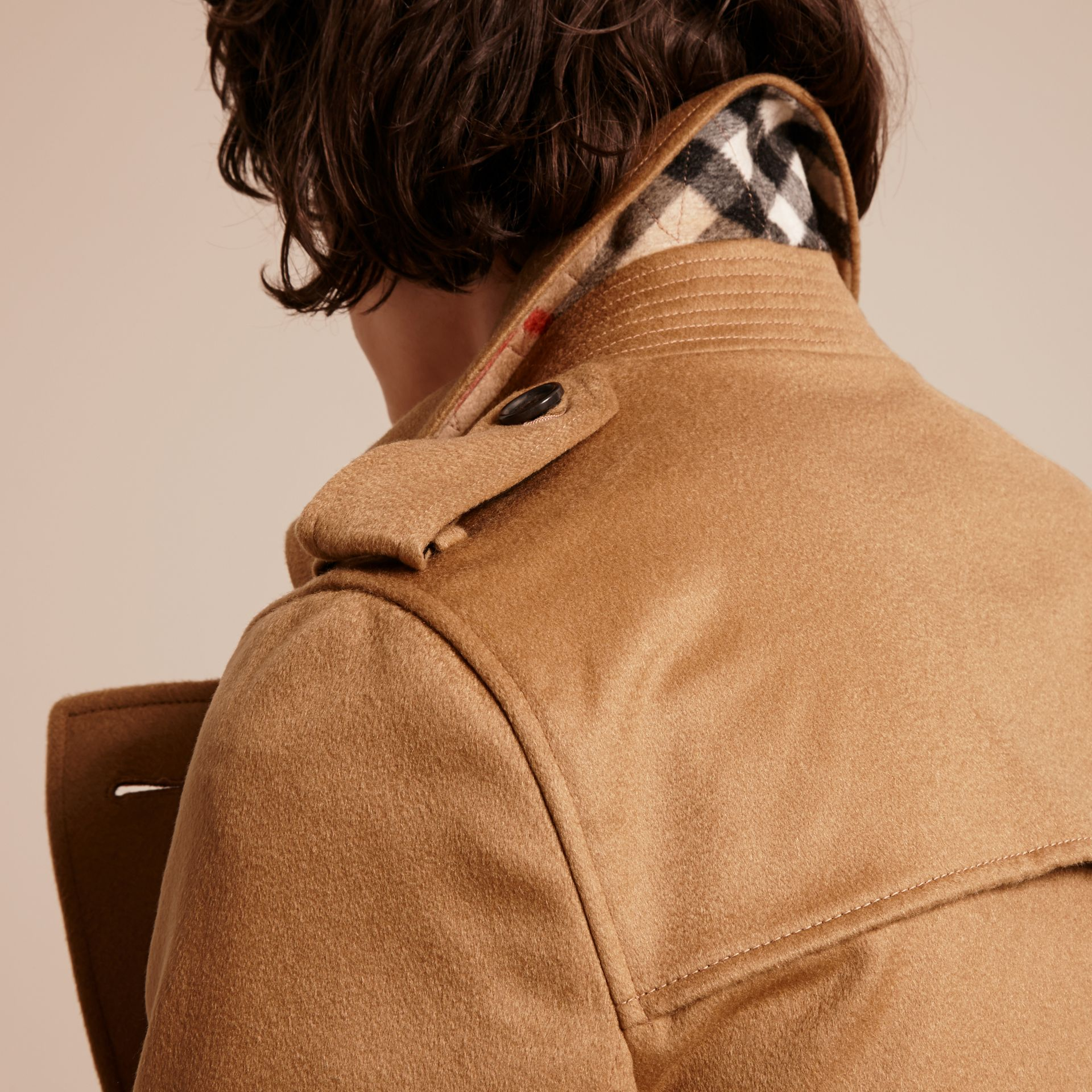 Cashmere Trench Coat in Dark Camel - Men | Burberry - gallery image 6