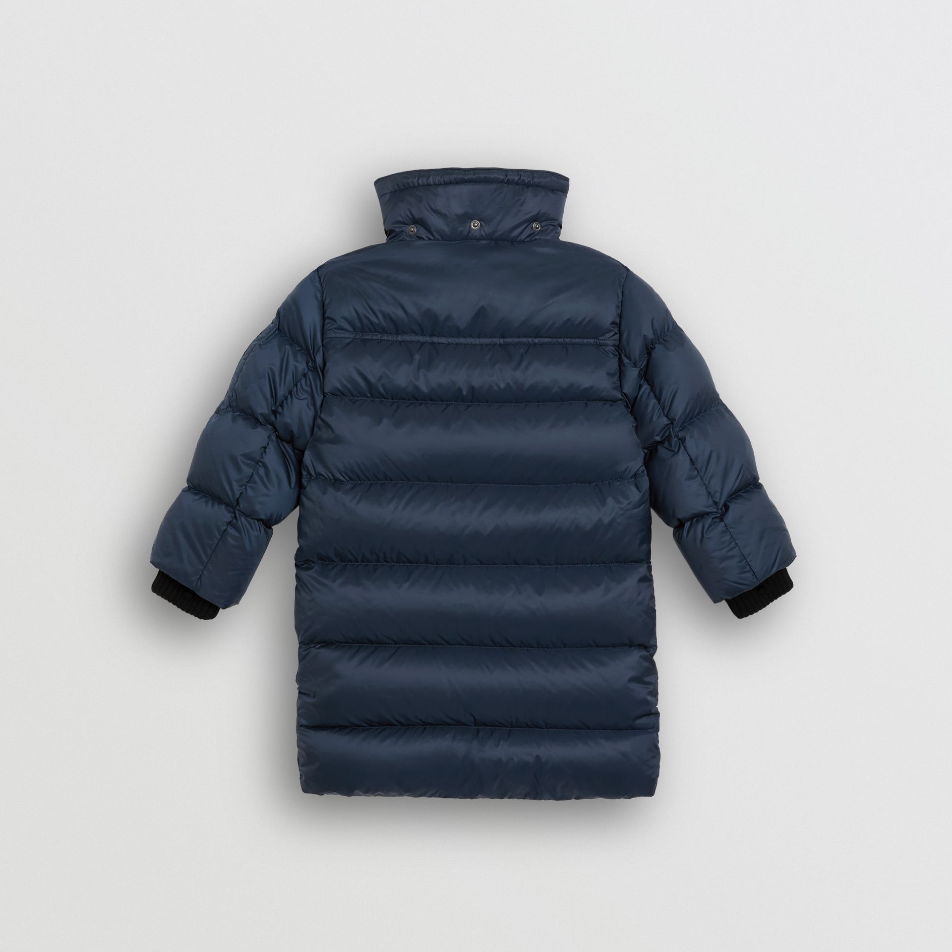 Detachable Hood Down-filled Puffer Coat in Navy | Burberry United Kingdom - gallery image 3