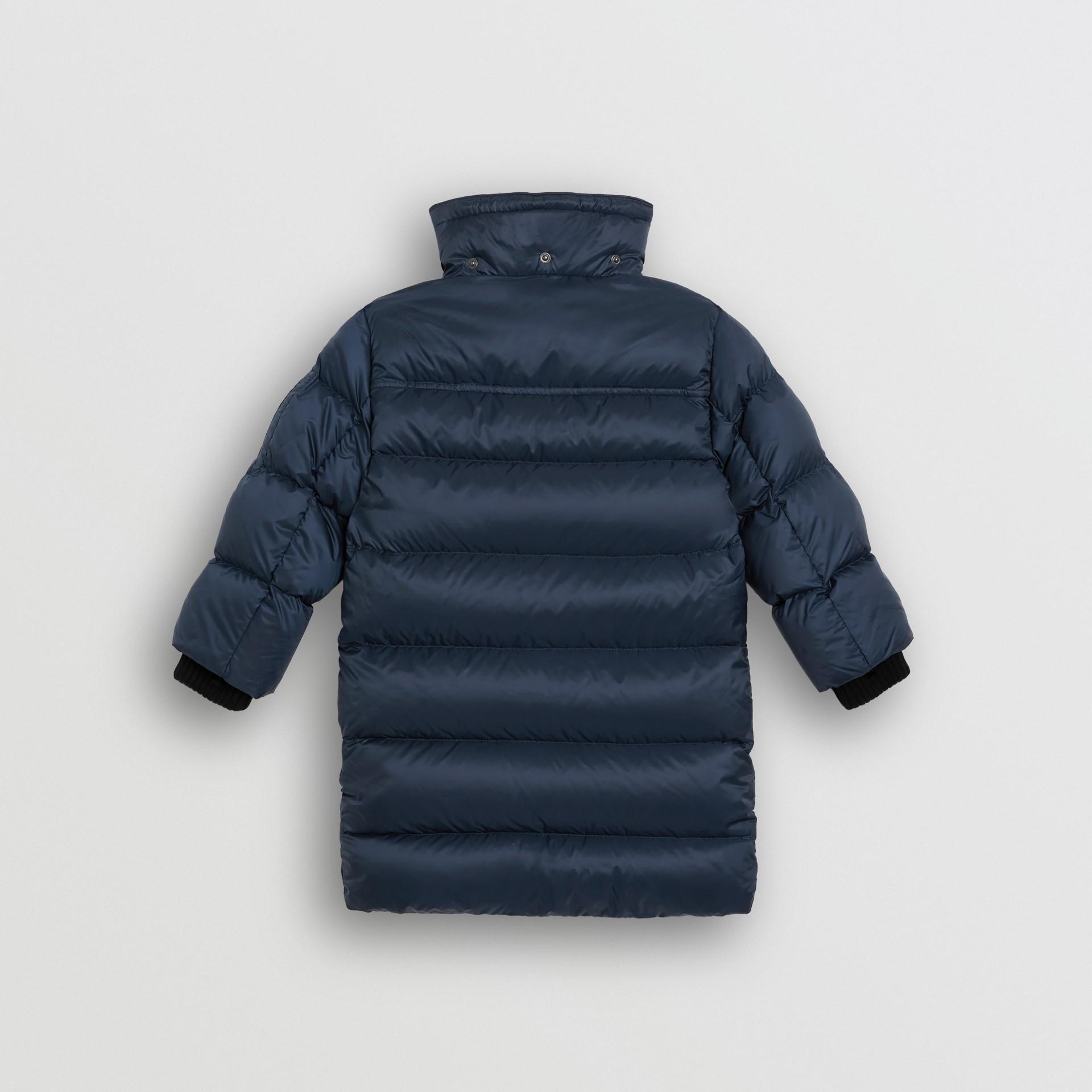 Abrigo acolchado con relleno de plumón y capucha de quita y pon (Azul Marino) | Burberry - imagen de la galería 3