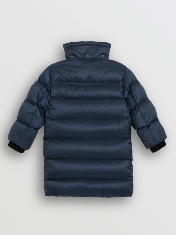 Detachable Hood Down-filled Puffer Coat in Navy | Burberry United Kingdom - cell image 3