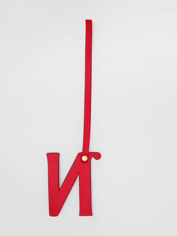 'N' Studded Leather Alphabet Charm in Red/light Gold | Burberry - cell image 2