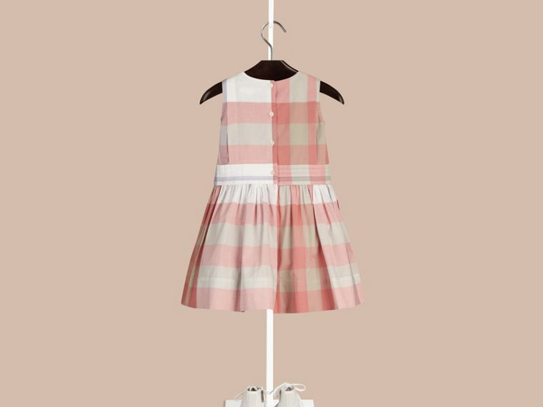 Светлый медно-розовый Платье без рукавов в клетку Светлый Медно-розовый - cell image 1