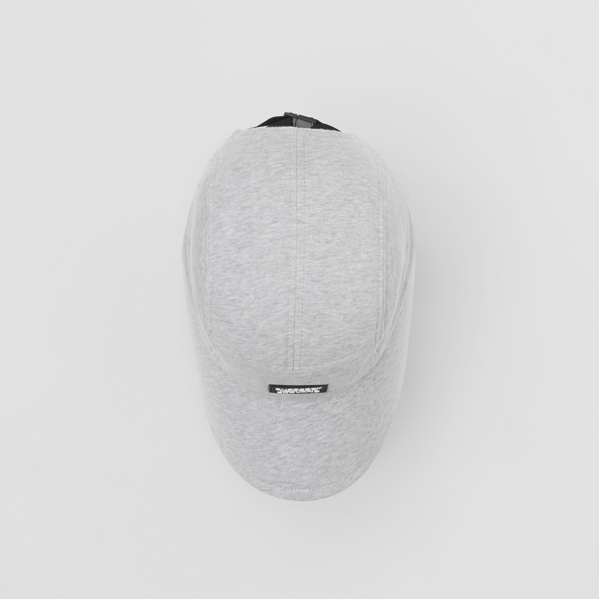 Logo Appliqué Cotton Jersey Bonnet Cap in Light Pebble Grey | Burberry - gallery image 3