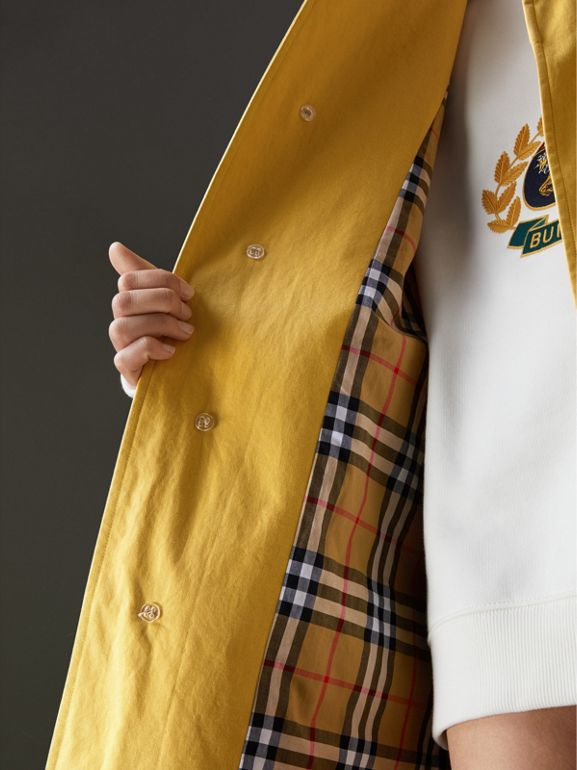 Reissued Waxed Cotton Gabardine Car Coat in Yellow - Women | Burberry United Kingdom - cell image 1