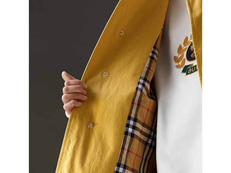 Reissued Waxed Cotton Gabardine Car Coat in Yellow - Women | Burberry - cell image 1