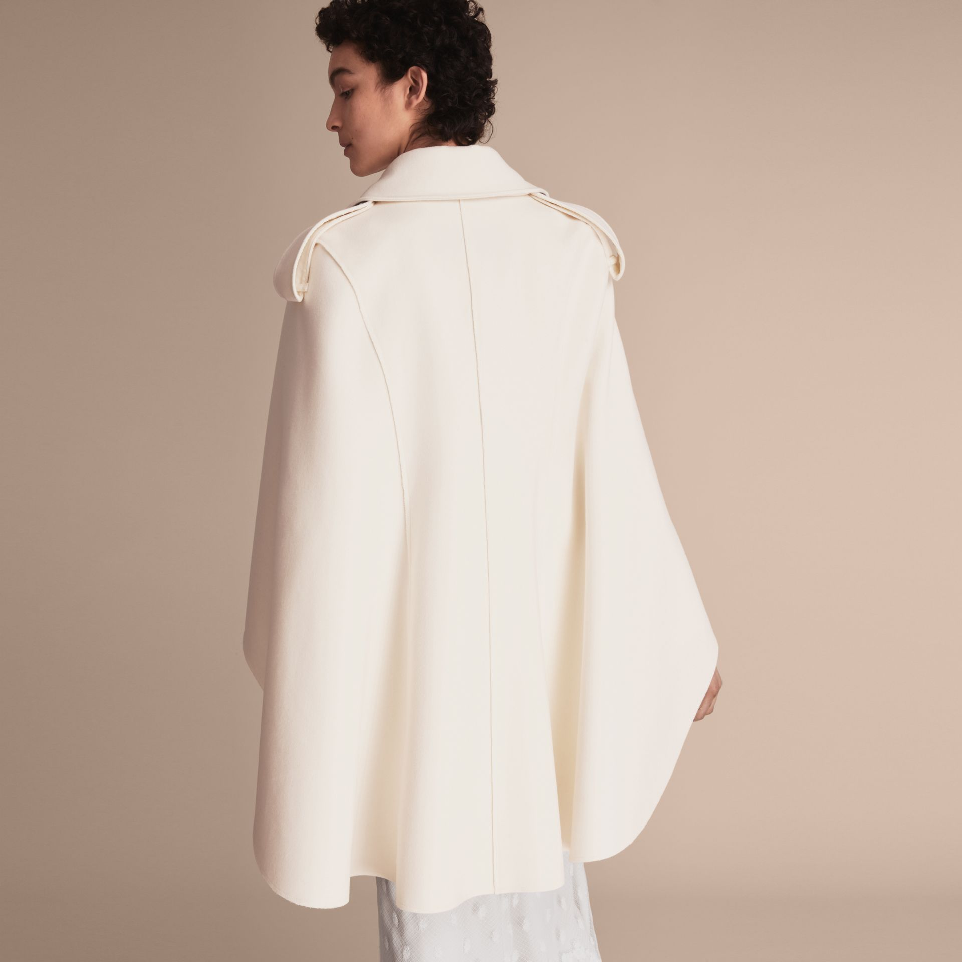 Tailored Wool Cashmere Cape - Women | Burberry - gallery image 3