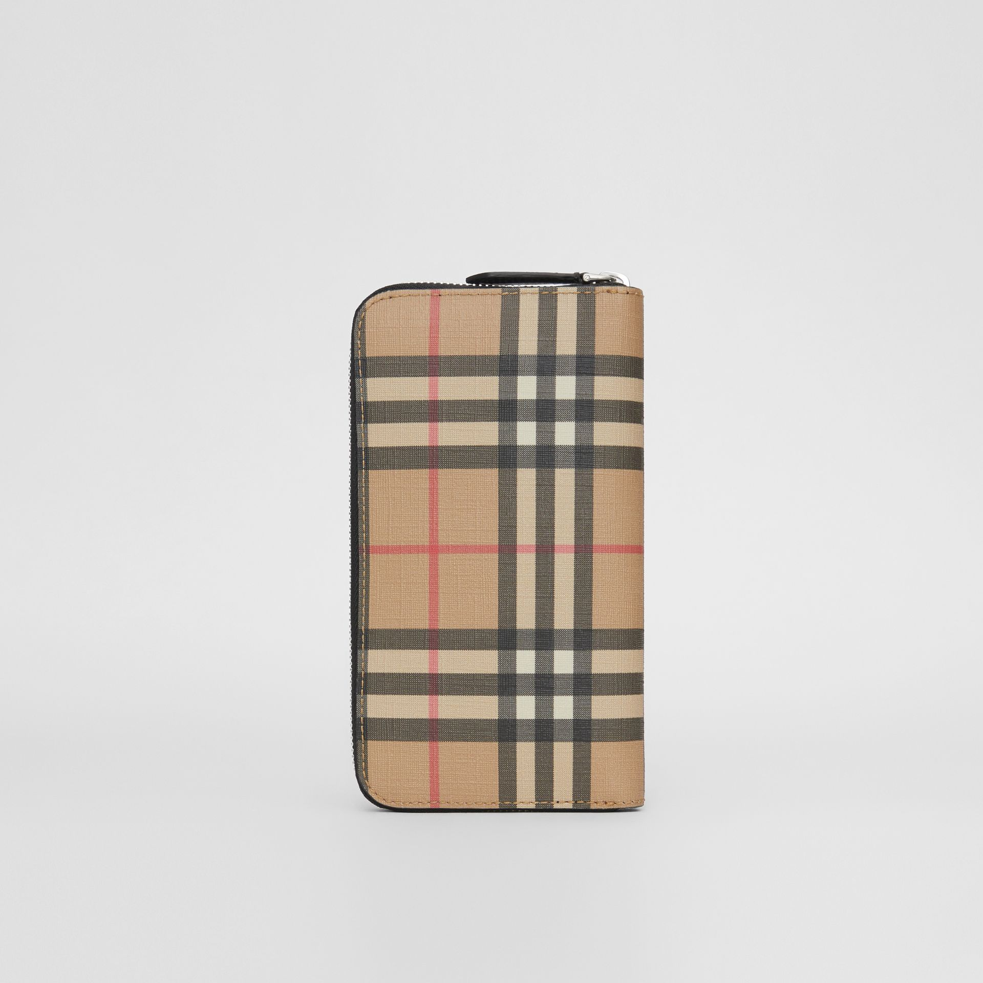 Vintage Check E-canvas Ziparound Wallet in Archive Beige - Men | Burberry Australia - gallery image 4