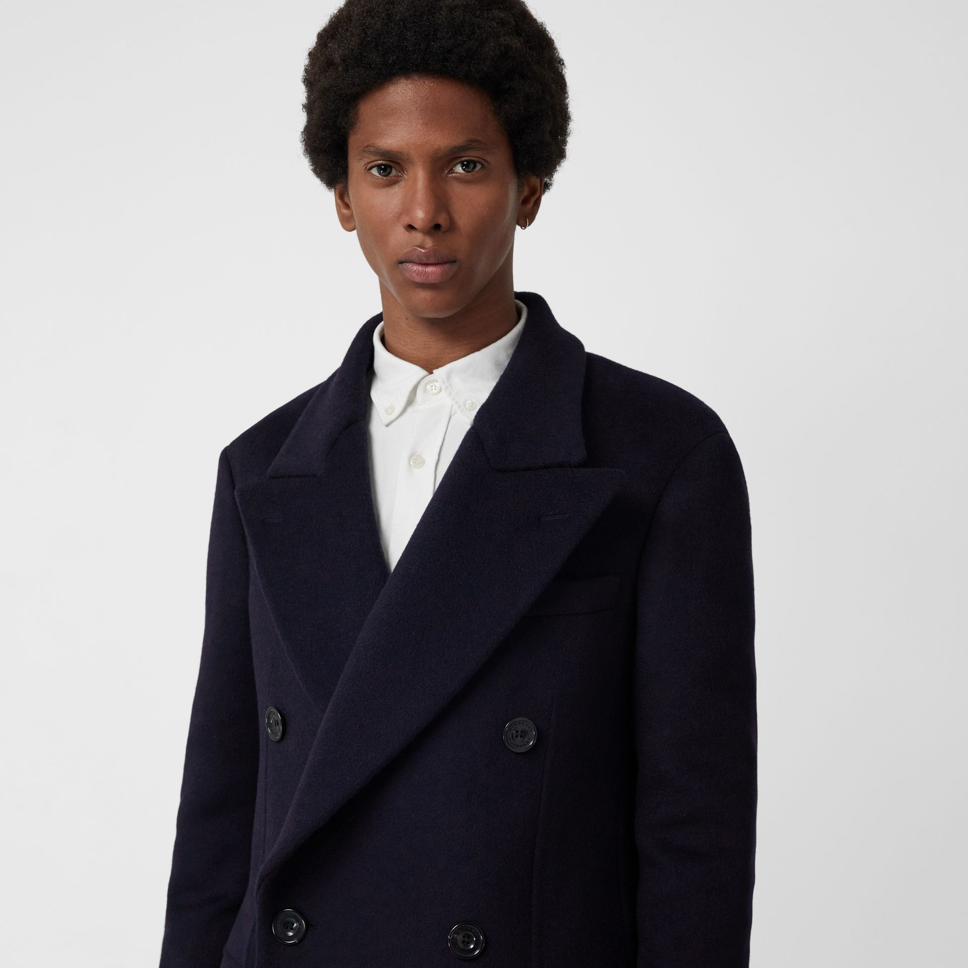 Double-faced Cashmere Tailored Coat in Navy - Men | Burberry Singapore - gallery image 1