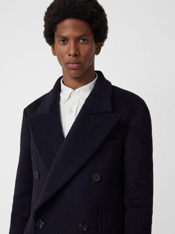 Double-faced Cashmere Tailored Coat in Navy - Men | Burberry Singapore - cell image 1