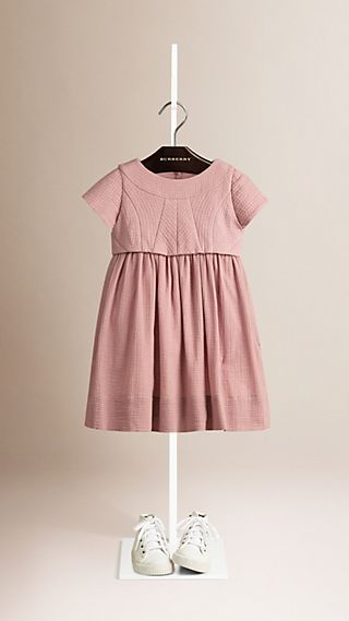 A-line Cotton Dress with Vest
