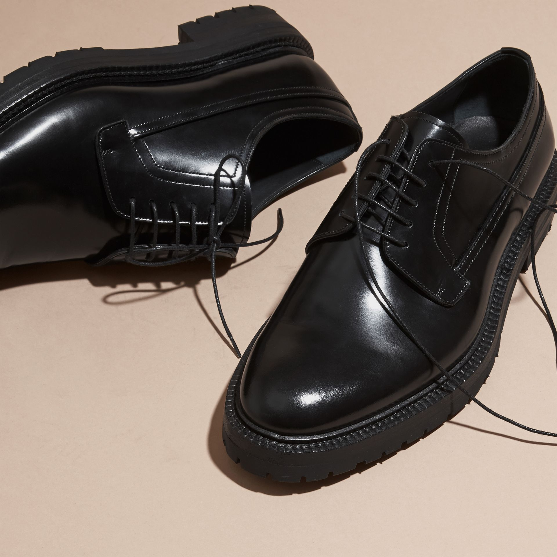 Leather Derby Shoes - gallery image 2