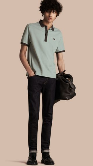 Mercerised Cotton Piqué Polo Shirt