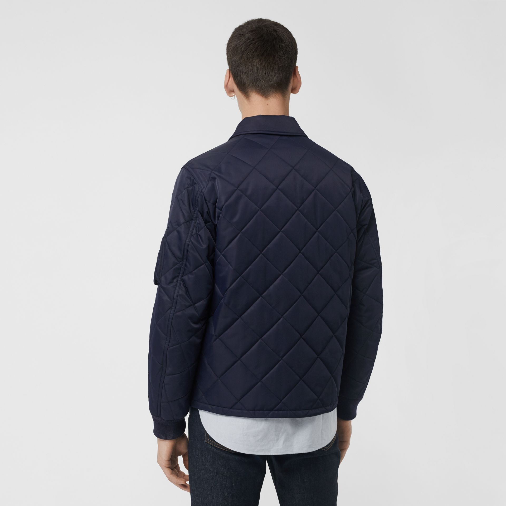 Diamond Quilted Jacket in Navy - Men | Burberry United Kingdom - gallery image 2