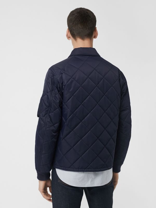 Diamond Quilted Jacket in Navy - Men | Burberry Singapore - cell image 2