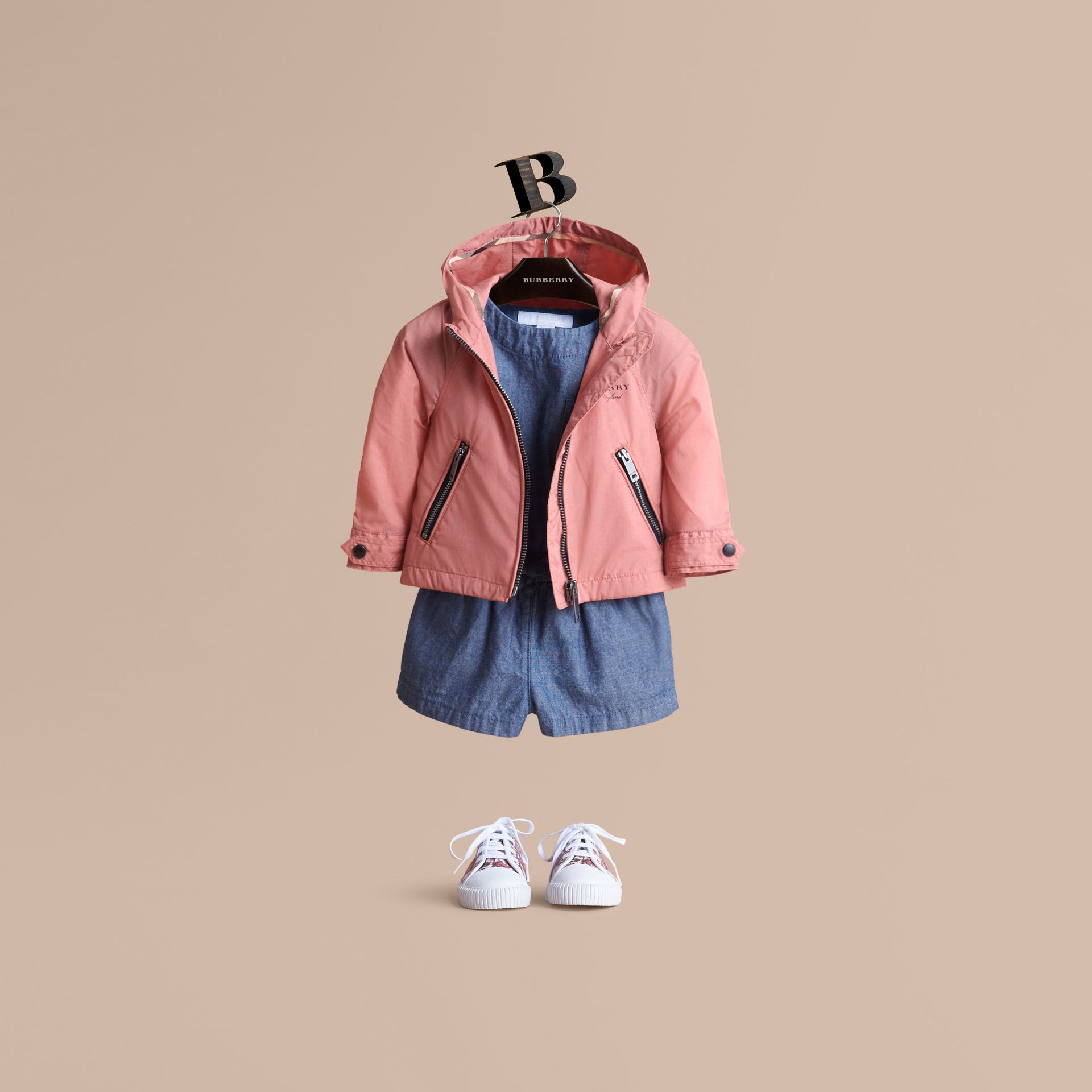 Showerproof Hooded Jacket Rose Pink - gallery image 1