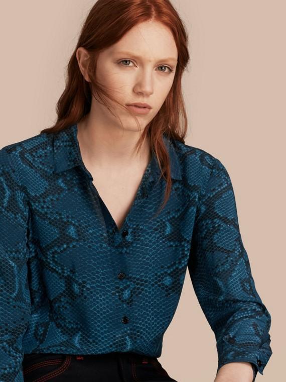 Python Print Silk Shirt