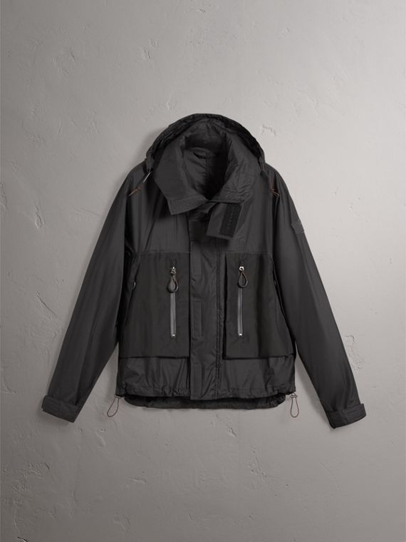 Packaway Hood Funnel-neck Jacket in Black - Men | Burberry - cell image 3