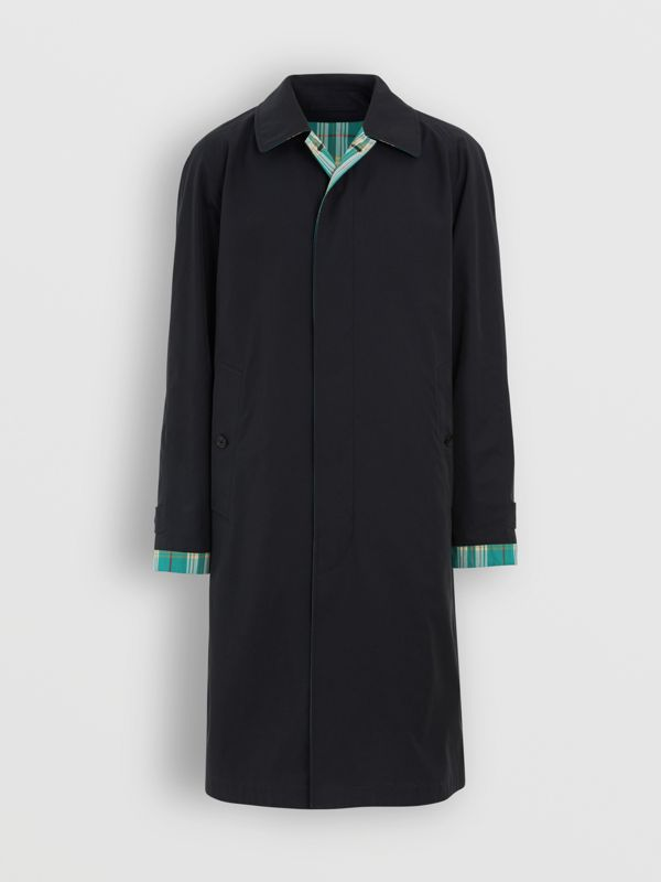 Reversible Tropical Gabardine Car Coat in Midnight - Men | Burberry Australia - cell image 3