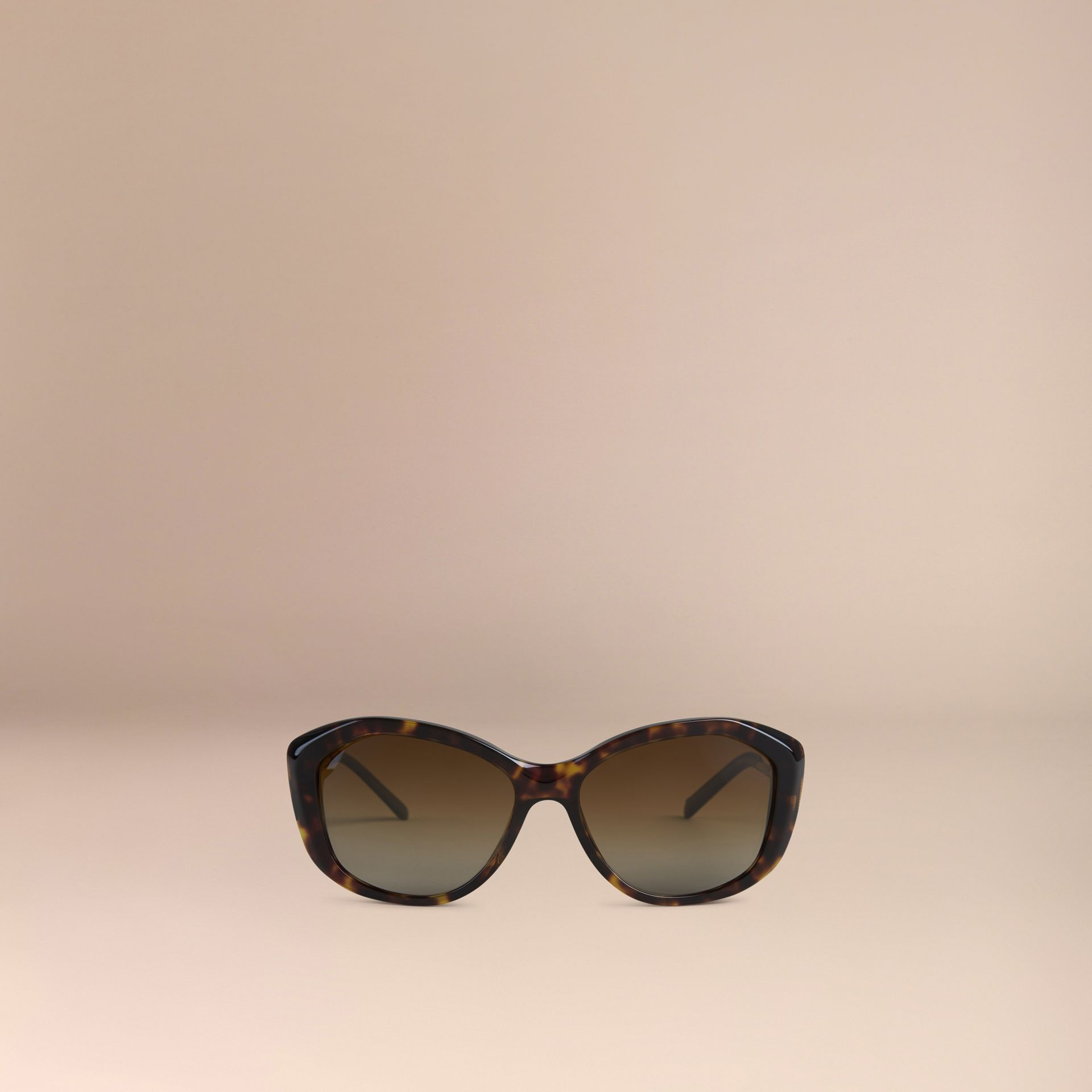 Gabardine Collection Square Frame Sunglasses Tortoise Shell - gallery image 2
