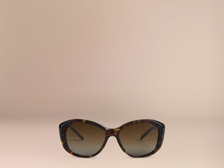 Gabardine Collection Square Frame Sunglasses in Tortoise Shell - cell image 1