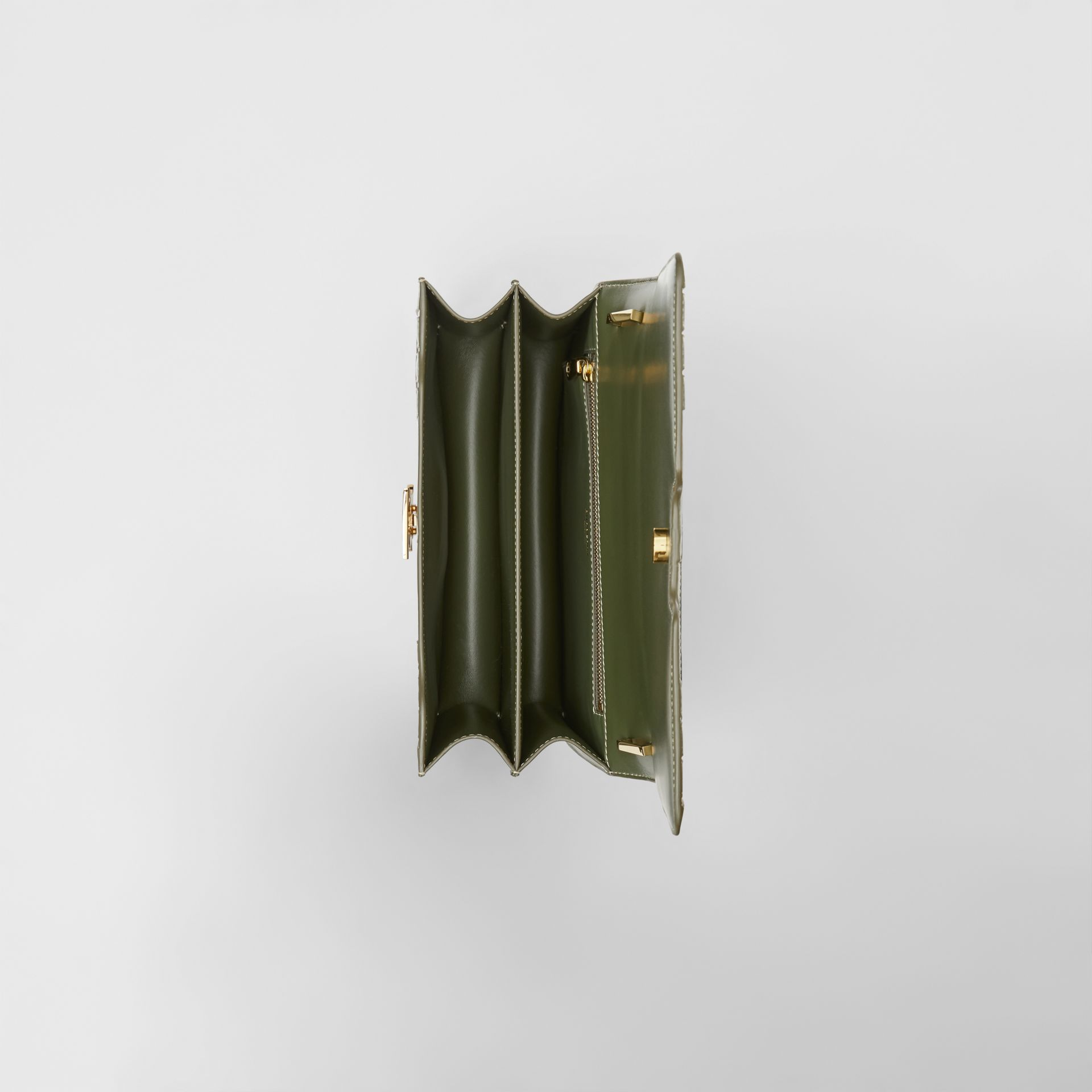 Bolsa TB de couro trançado - Média (Verde Sálvia) - Mulheres | Burberry - galeria de imagens 4