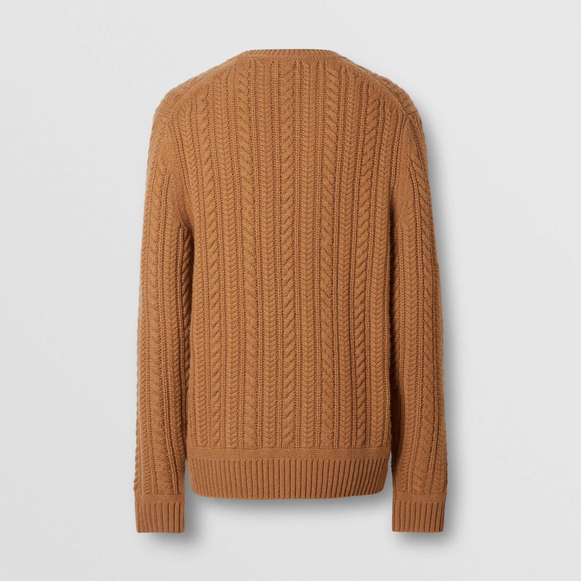Cable Knit Cashmere Sweater in Maple - Men | Burberry United Kingdom - gallery image 6
