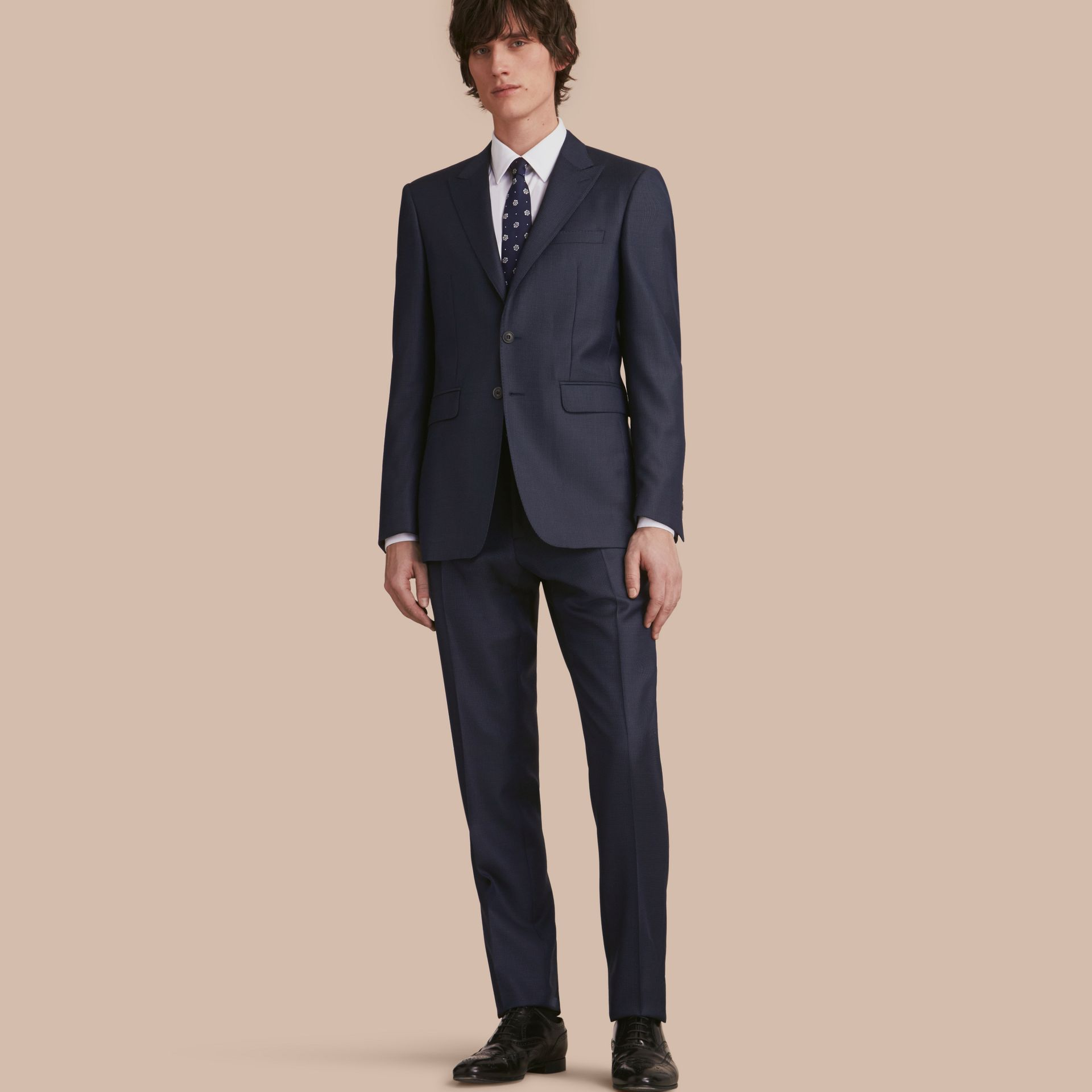 Modern Fit Wool Silk Part-canvas Suit - Men | Burberry - gallery image 1