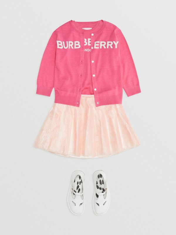 Pleated Laminated Lace Skirt in Pale Pink - Children | Burberry - cell image 2
