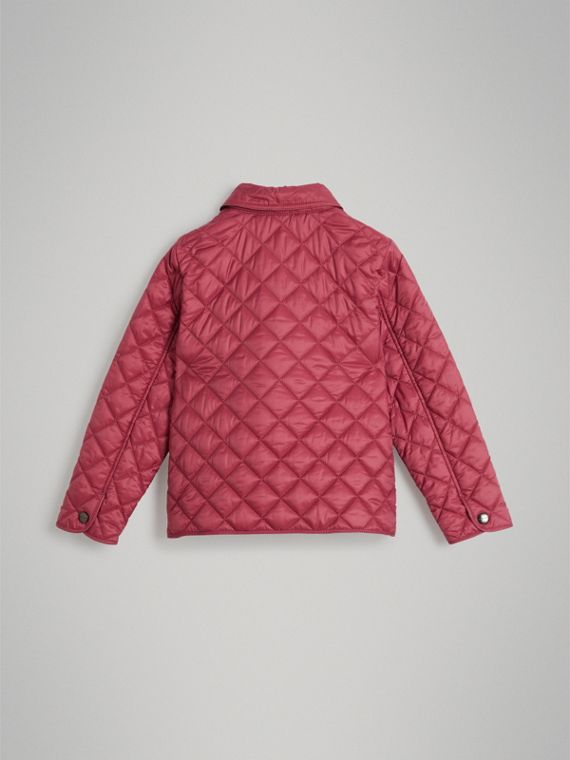 Lightweight Diamond Quilted Jacket in Peony Rose - Girl | Burberry Australia - cell image 3