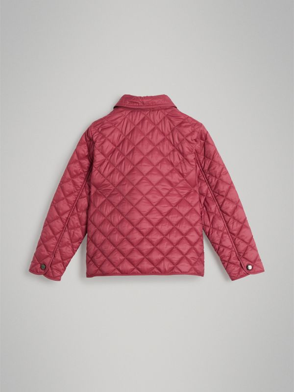 Lightweight Diamond Quilted Jacket in Peony Rose | Burberry - cell image 3