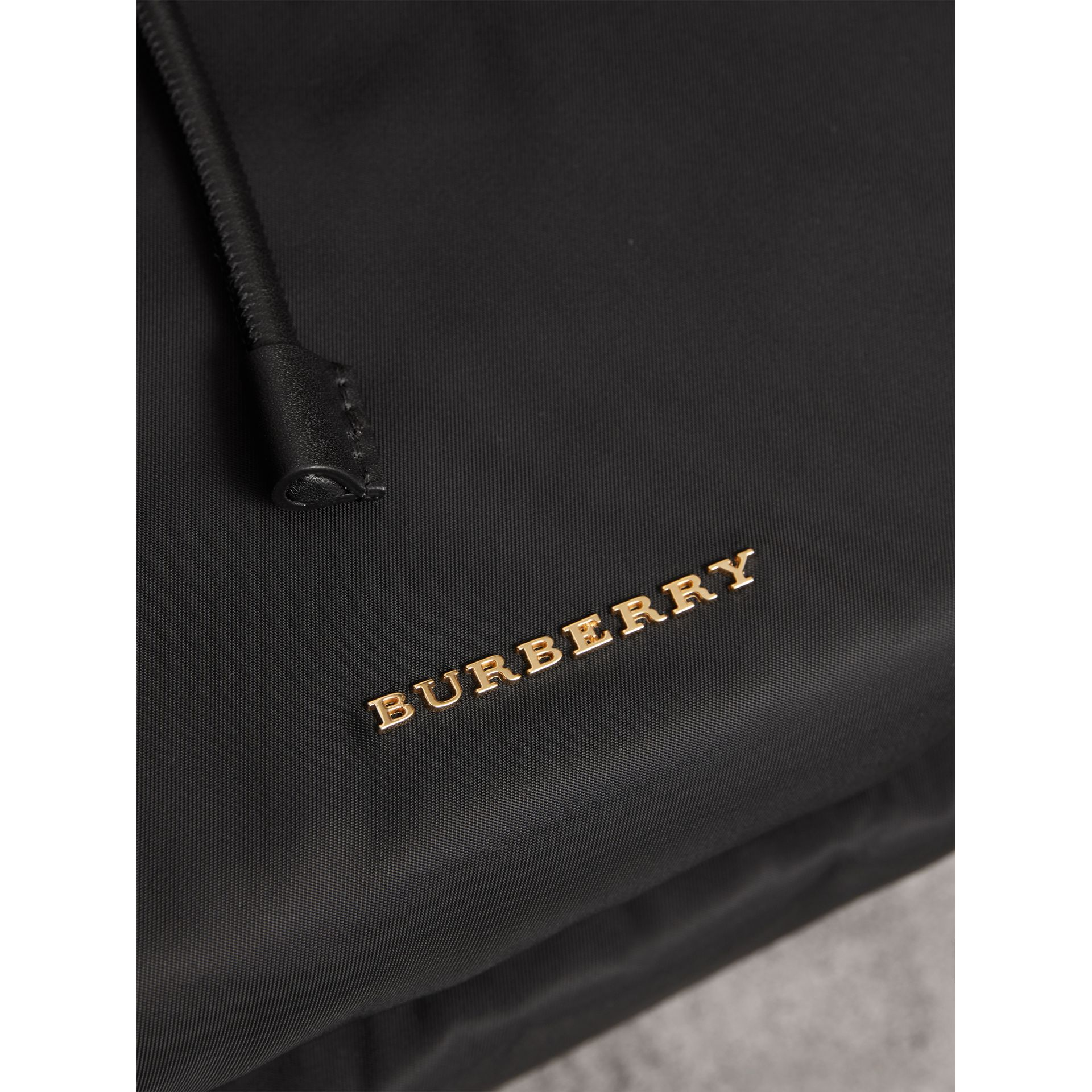 The Large Rucksack in Technical Nylon and Leather in Black - Women | Burberry United States - gallery image 5